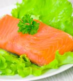 Fresh smoked salmon fillet Stock Image