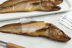 Fresh smoked whiting fish Royalty Free Stock Photo