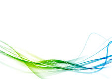 Fresh smooth green to blue color gradient transition Stock Photo