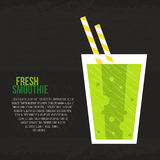 Fresh Smoothie. Fruit smoothie vector concept. Menu element for cafe or restaurant with energetic fresh drink made in flat style. Fresh juice for healthy life Royalty Free Stock Photo