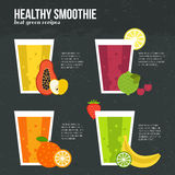 Fresh Smoothie. Fruit smoothie vector concept. Menu element for cafe or restaurant with energetic fresh drink made in flat style. Fresh juice for healthy life Stock Photo