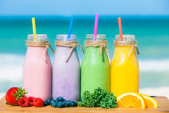 Fresh smoothies stock image