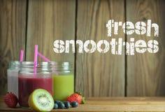 Fresh smoothies Royalty Free Stock Image