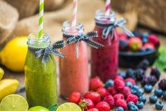 Fresh Smoothies and Fruit Royalty Free Stock Image