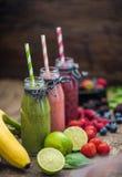 Fresh Smoothies and Fruit Stock Image