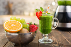 Fresh smoothies in glass Stock Photography