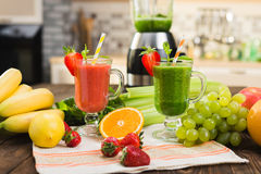 Fresh smoothies in glass Stock Photo