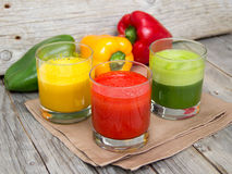 Fresh smoothies in the glass Royalty Free Stock Photography
