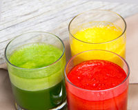 Fresh smoothies in the glass Stock Photography