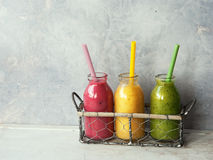 Fresh smoothies royalty free stock images