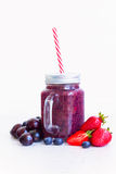 Fresh smoothy berry drink Royalty Free Stock Images