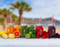 Fresh smoothy drink with igredients Royalty Free Stock Photos