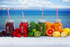 Fresh smoothy drink with igredients Royalty Free Stock Photography