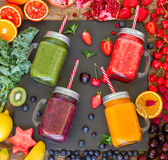 Fresh smoothy drink with igredients Royalty Free Stock Images