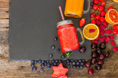 Fresh smoothy drink with igredients Royalty Free Stock Photo