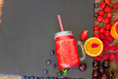 Fresh smoothy red drink Stock Photos