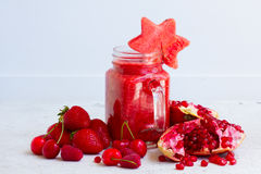 Fresh smoothy red drink Stock Images