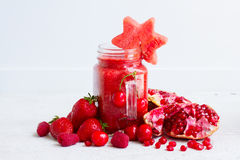 Fresh smoothy red drink Royalty Free Stock Photo