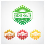 Fresh Snack Badge Stock Photography