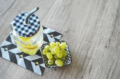 Fresh snack and drink royalty free stock images