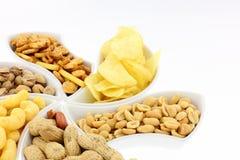 Fresh Snacks Isolated On White Background. Stock Photos