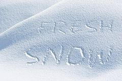 Fresh Snow Stock Image