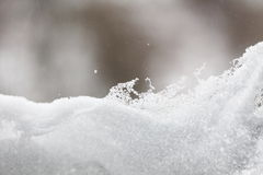 Fresh snow background close up Royalty Free Stock Photos