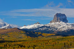 Fresh Snow on Chief Mountain Royalty Free Stock Images