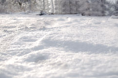 Fresh snow cover. Daytime light at winter stock images