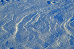 Fresh Snow Drifts and Patters in Winter Royalty Free Stock Images