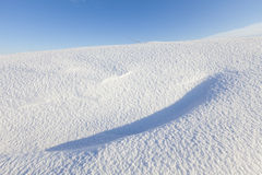 Fresh snow dunes in winter Stock Photo