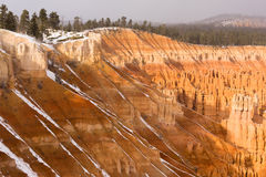 Fresh Snow Falling Bryce Canyon Rock Formations Utah USA Royalty Free Stock Photos