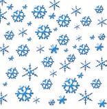 Fresh snow flakes. Fresh blue snow flakes background Stock Photography