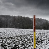 Fresh snow, lying across fields. Black and white photo of fresh snow, lying across fields Stock Photos