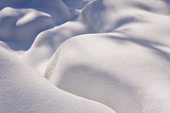 Fresh snow in the mountains Stock Photography