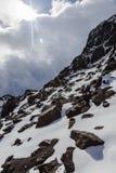 Fresh snow on rocks, Royalty Free Stock Photo