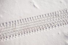 Fresh snow sedan tire track Royalty Free Stock Photography
