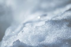 Fresh snow surface in sunny winter day. Fresh snow in sunny winter day Stock Photos