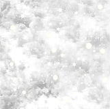 Fresh snow texture with star. Vector background Stock Photography