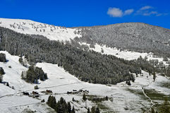 Fresh snow in the Val d`Entremont valley, Switzerland Stock Image