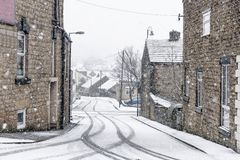 Fresh Snowfall British Town Royalty Free Stock Images