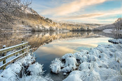 Fresh snowfall in the Lake District at Rydal Royalty Free Stock Photos