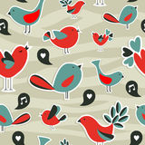 Fresh social media birds communication pattern Stock Images