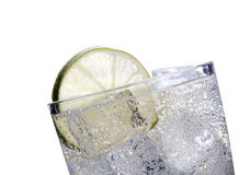 Fresh soda drink background with ice Royalty Free Stock Photos