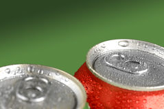 Fresh Soda Drink in Cans Royalty Free Stock Images