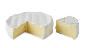 Fresh  soft  brie cheese Royalty Free Stock Photos