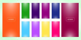 Fresh soft color abstract gradients. stock illustration