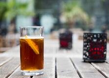 Fresh soft drink ice tea royalty free stock photo