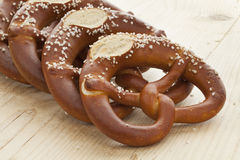 Fresh soft pretzels Stock Images