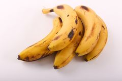 Fresh some bananas fruits. Fresh bananas fruits on white background stock images